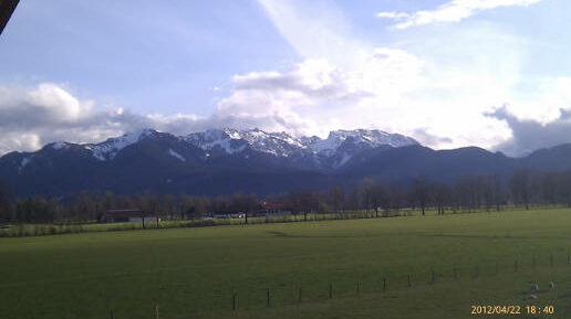 Herrlich freier Blick aufs Brauneck Skigebiet Lenggries